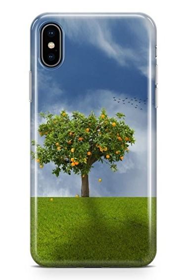 Lopard iPhone Xs Max Kılıf Silikon Arka Kapak Koruyucu Gün Batımı Ağaç Desenli Full HD Baskılı Renkli